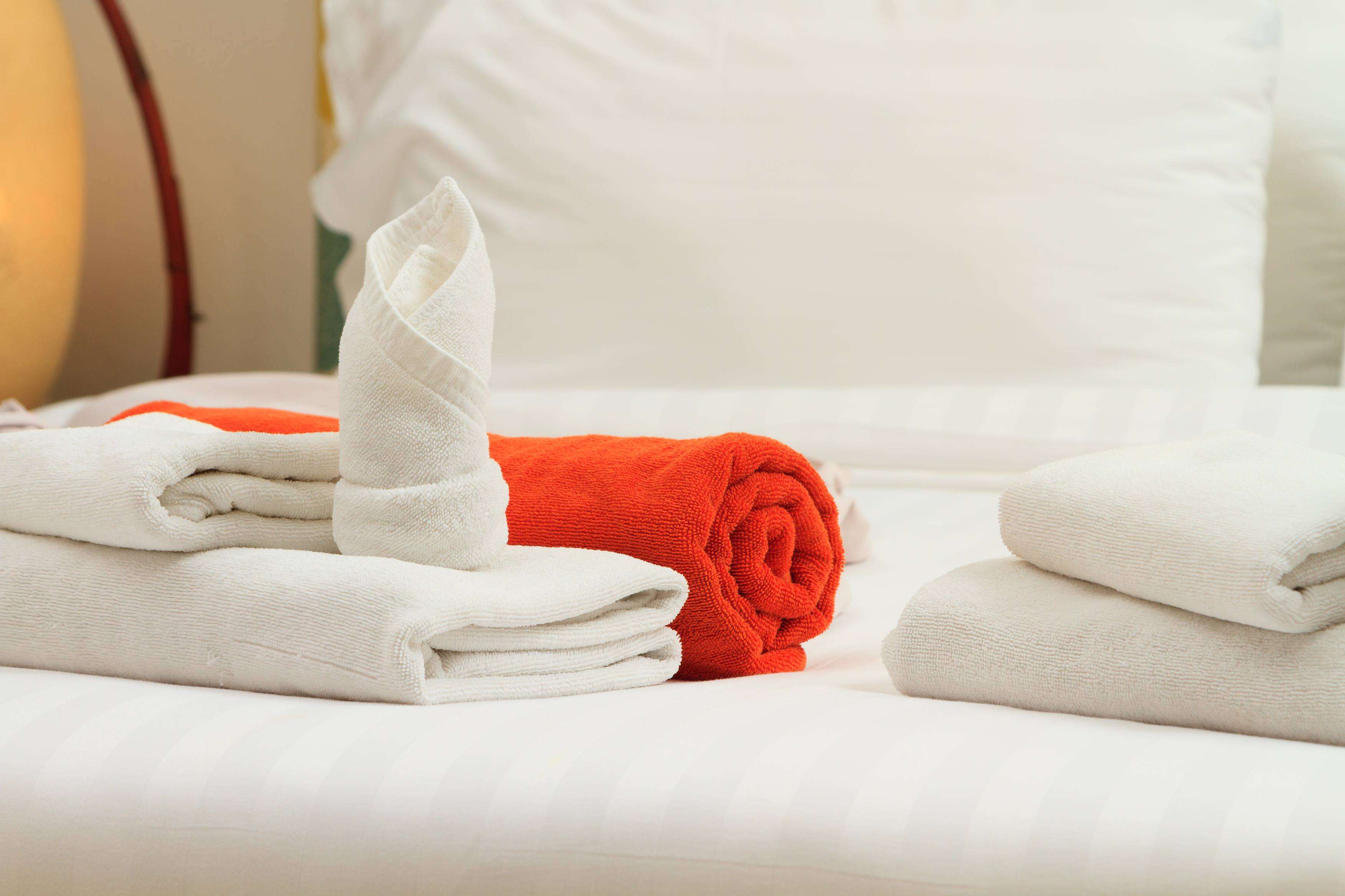 Luxury hotel towels.