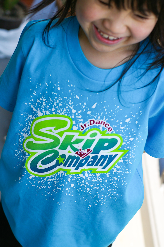 Kids T-shirt printed with glitter.