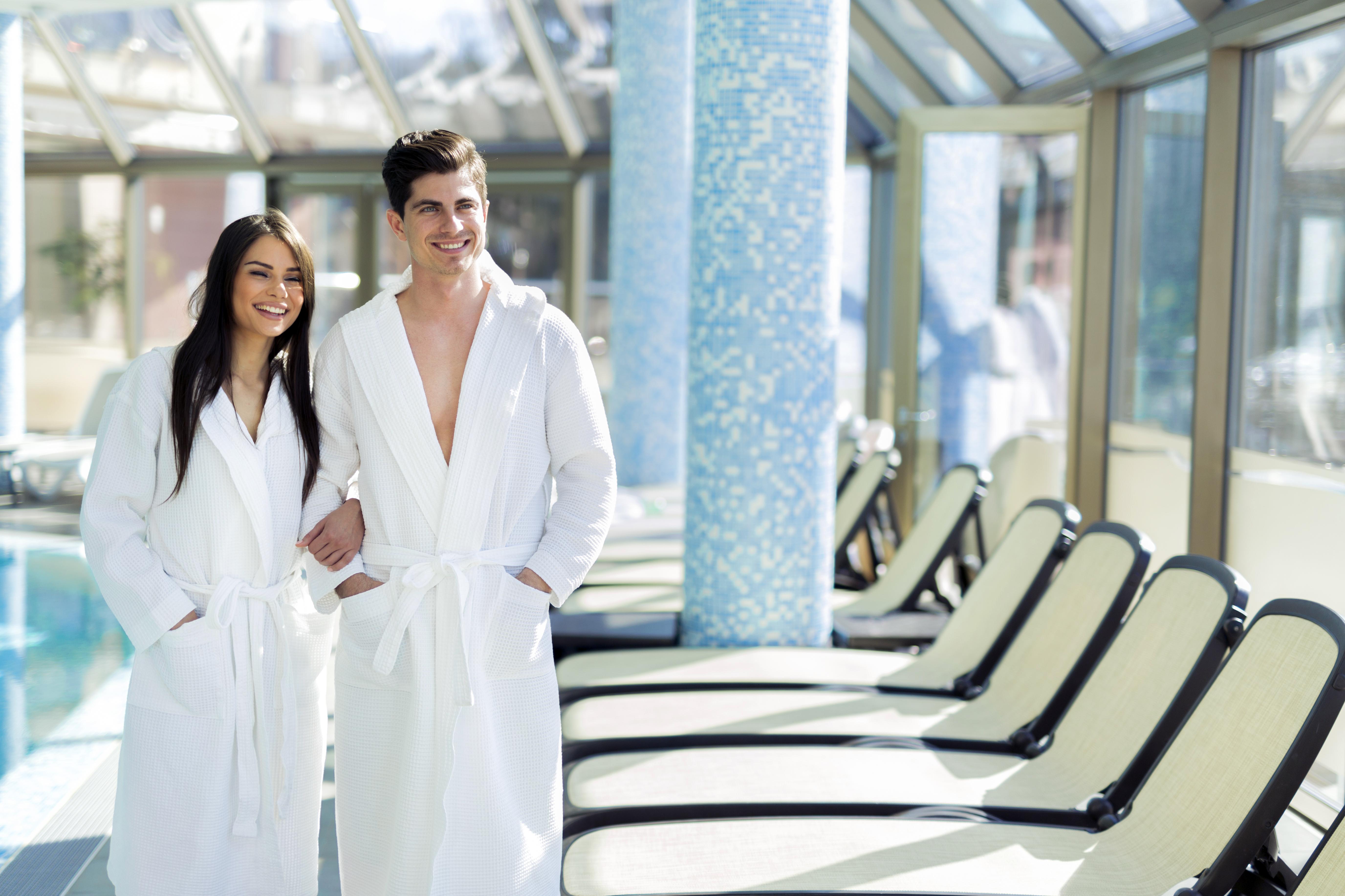 Terry cotton bathrobes.
