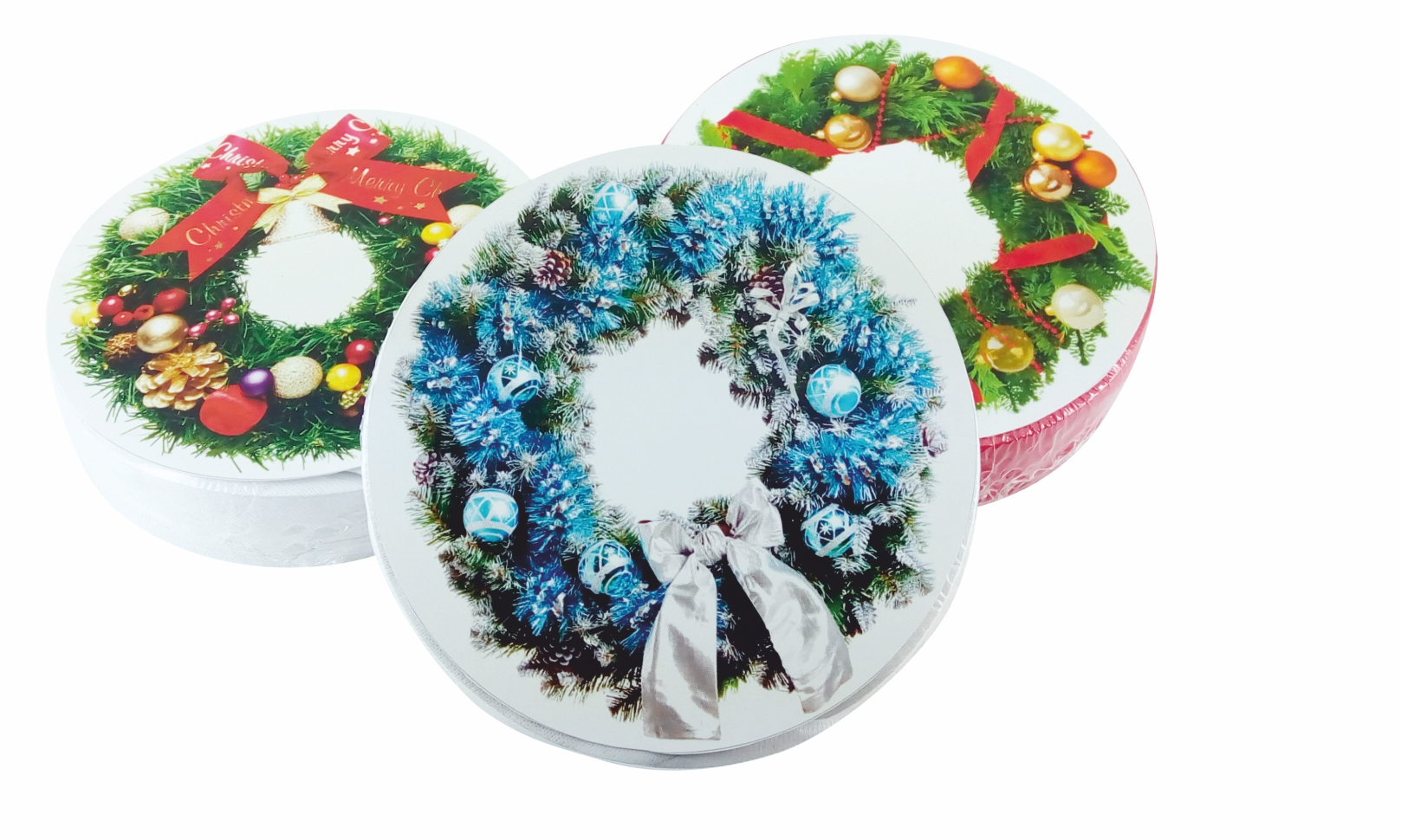 Christmas compressed T-Shirts in the Wreath shape