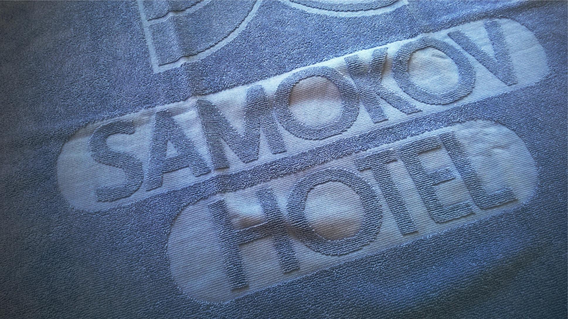 Uni colour hotel relief woven towel.
