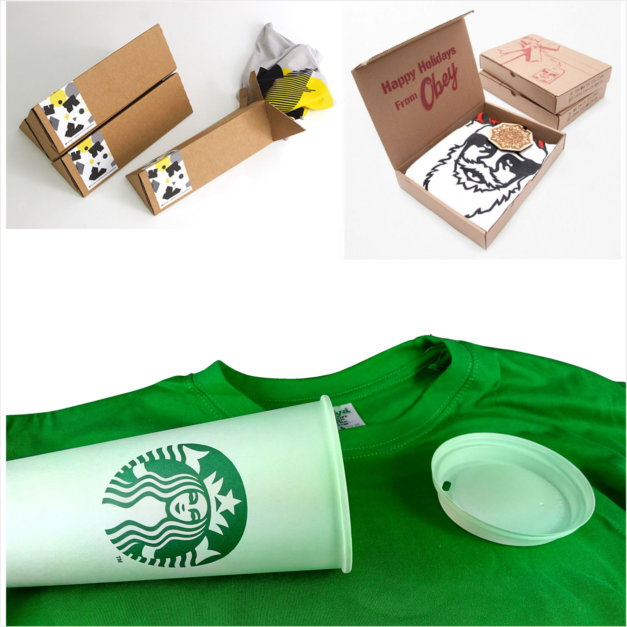 Creative T-Shirt and Towel packaging