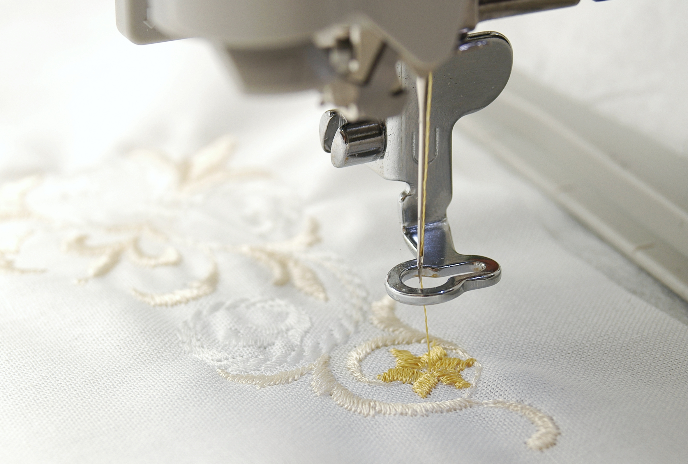 Embroidery showing fine detail