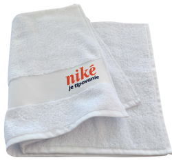 terry towel with printed border