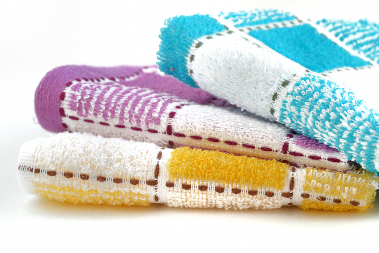 Multi colour jacquard kitchen towel.