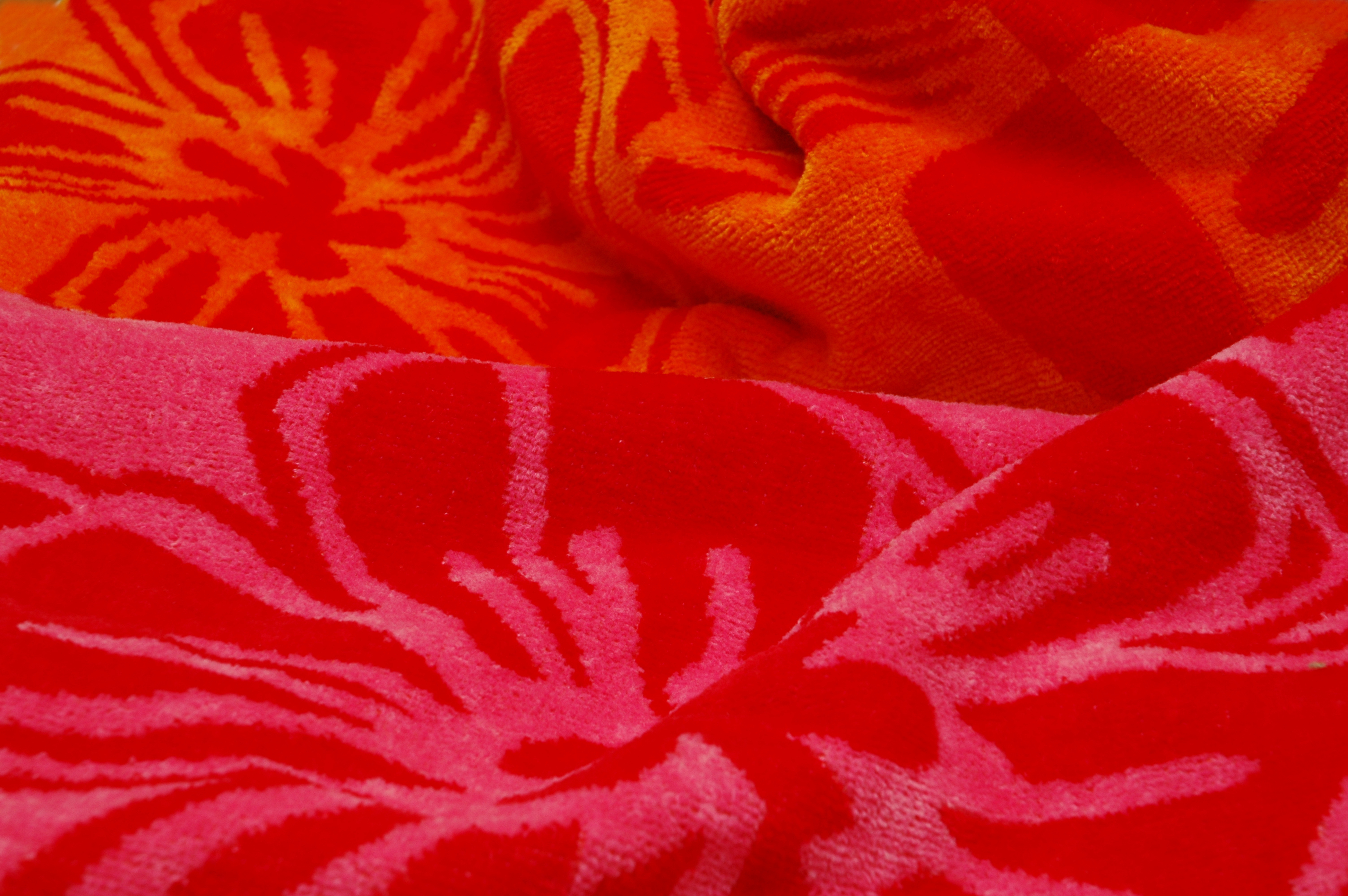 Towel with velour finish zoomed in.