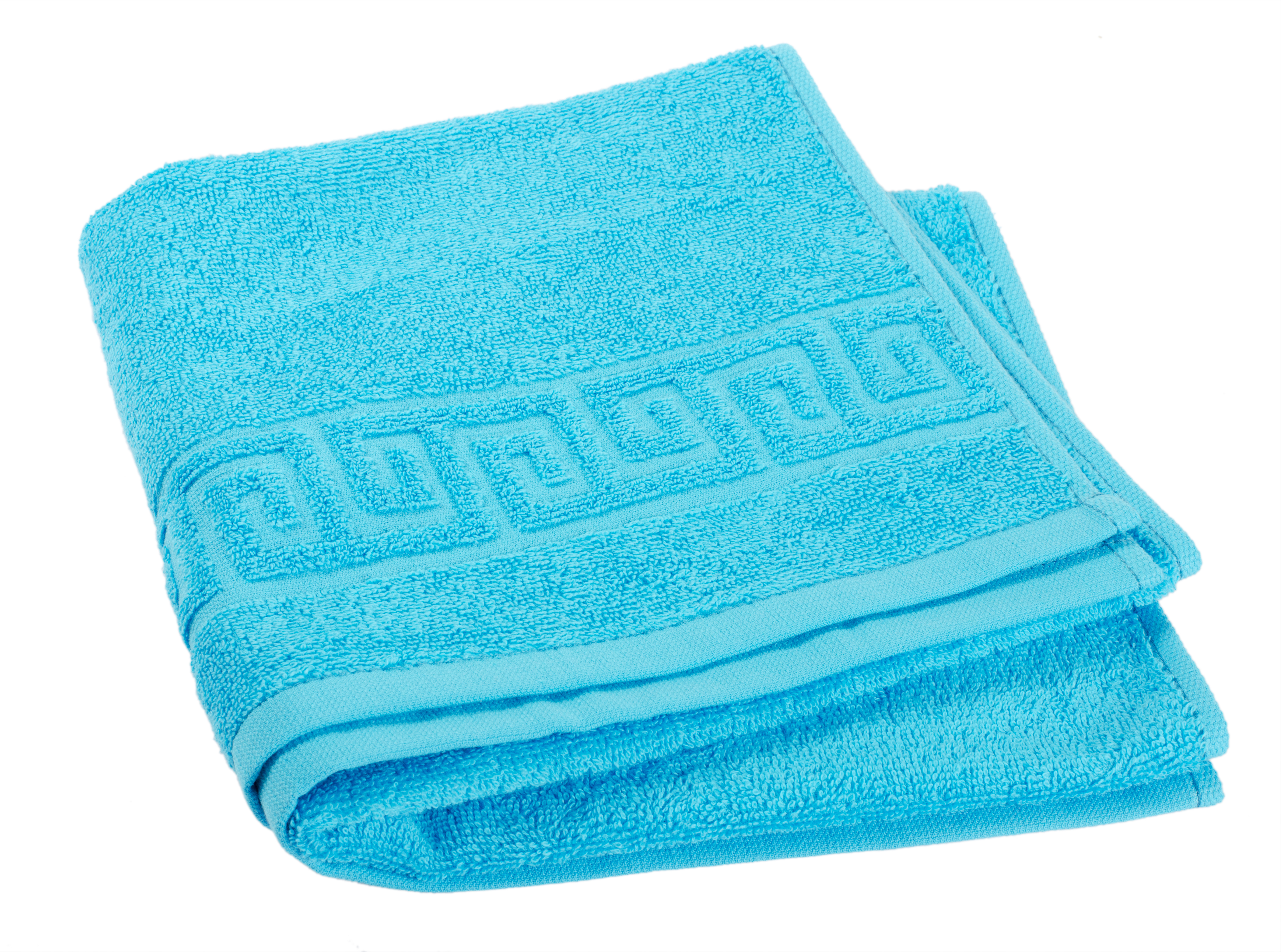 Relief woven jacquard towel.