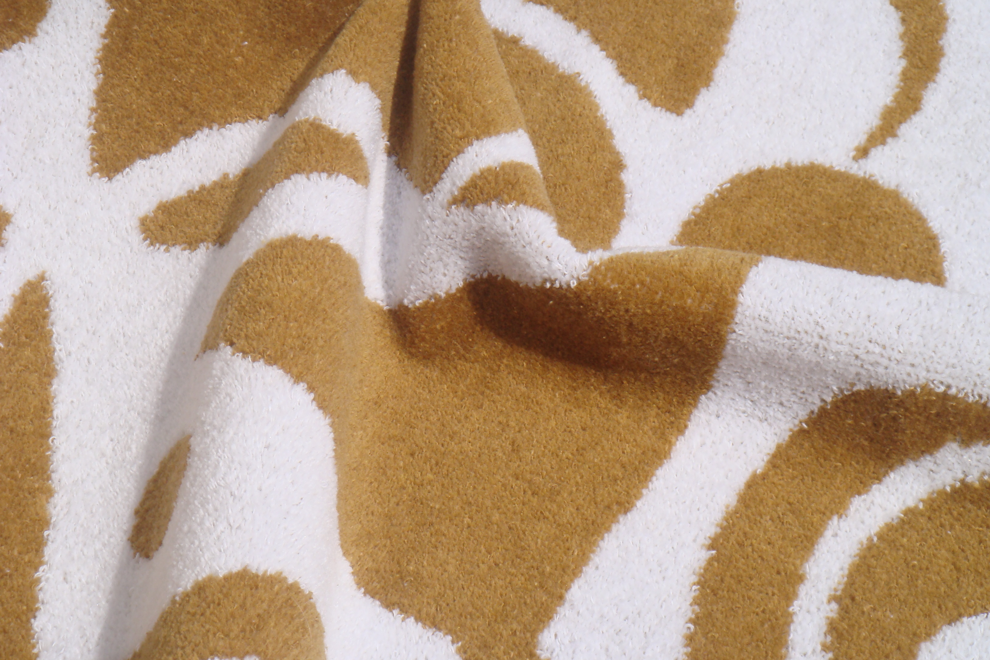2 colour jacquard woven towel with velour finish