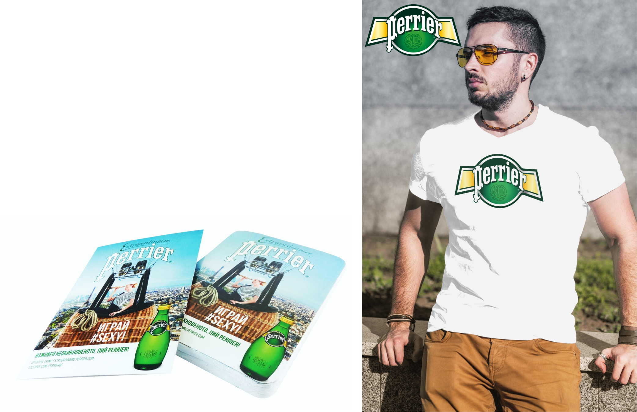 Perrier compressed T Shirt