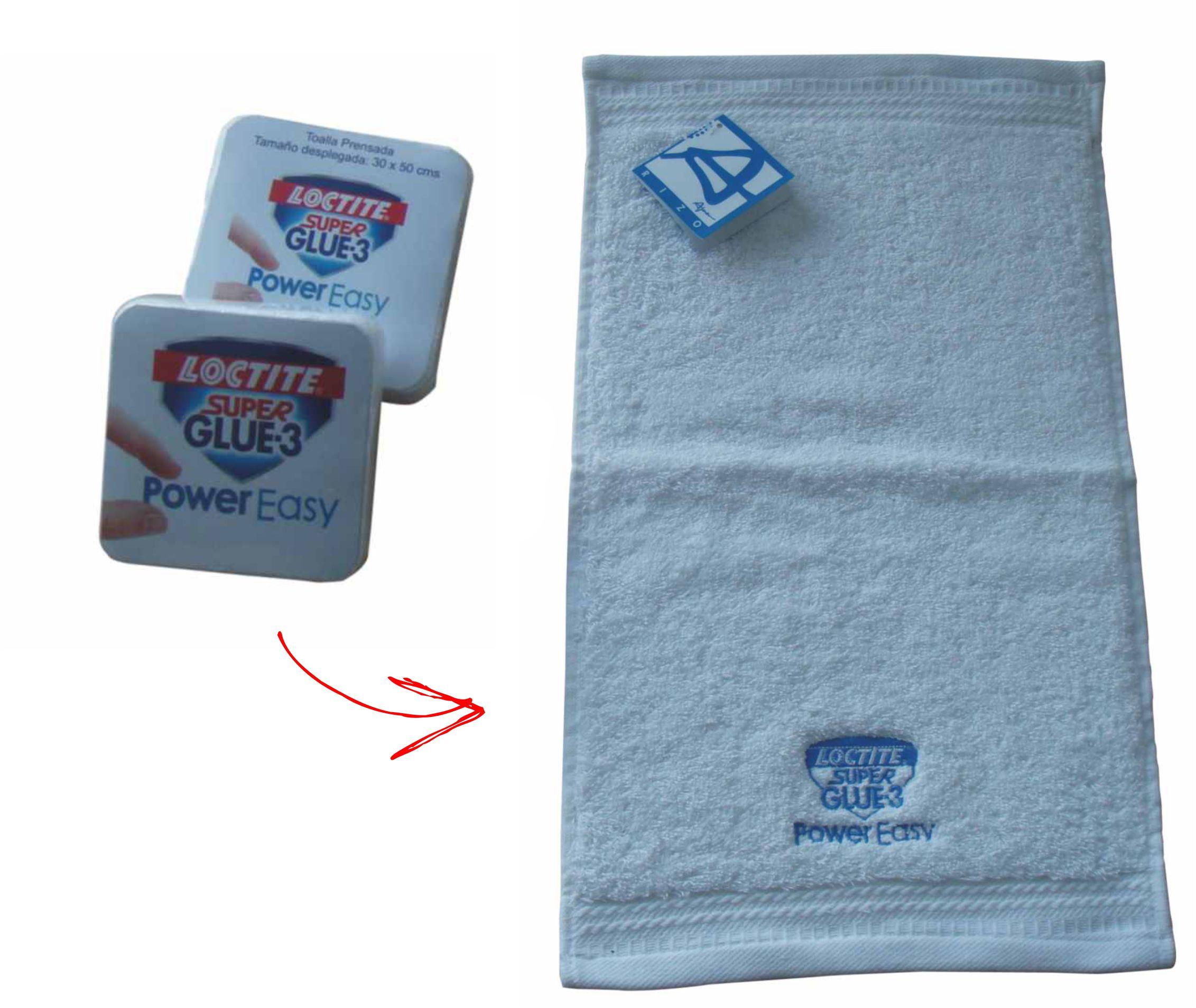 Compressed towels