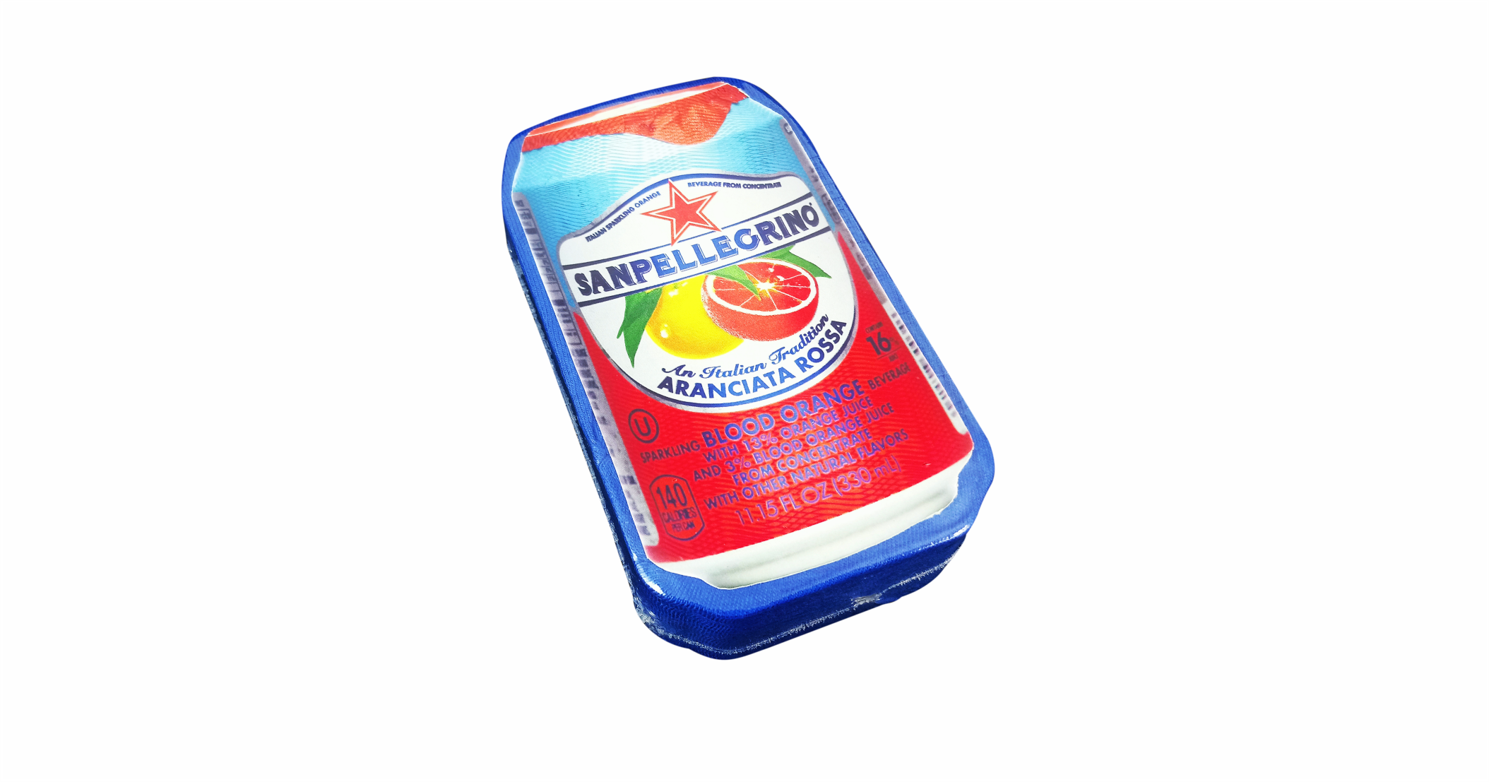 Compressed T Shirt Can SanPellegrino