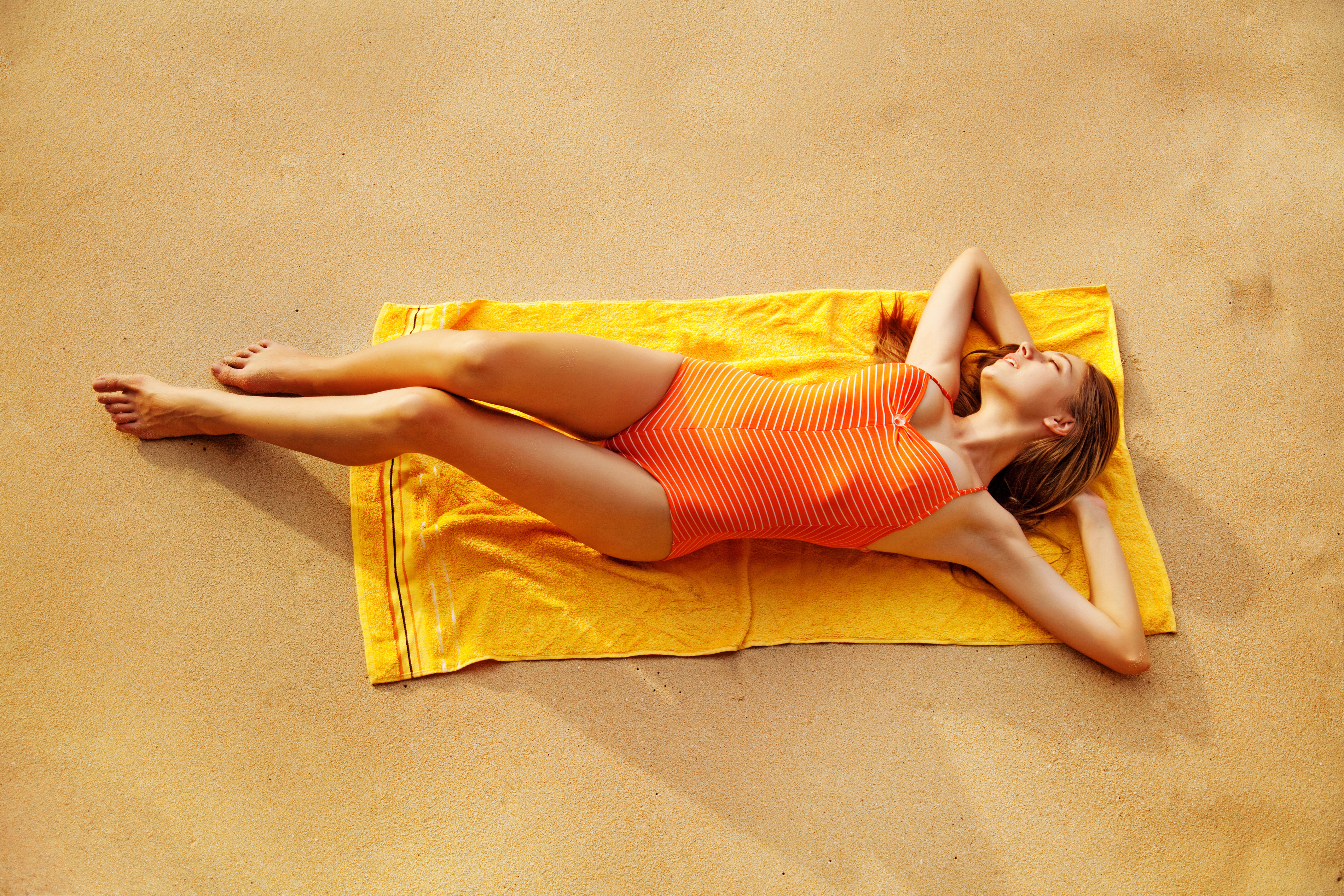 Jacquard woven border beach towel.