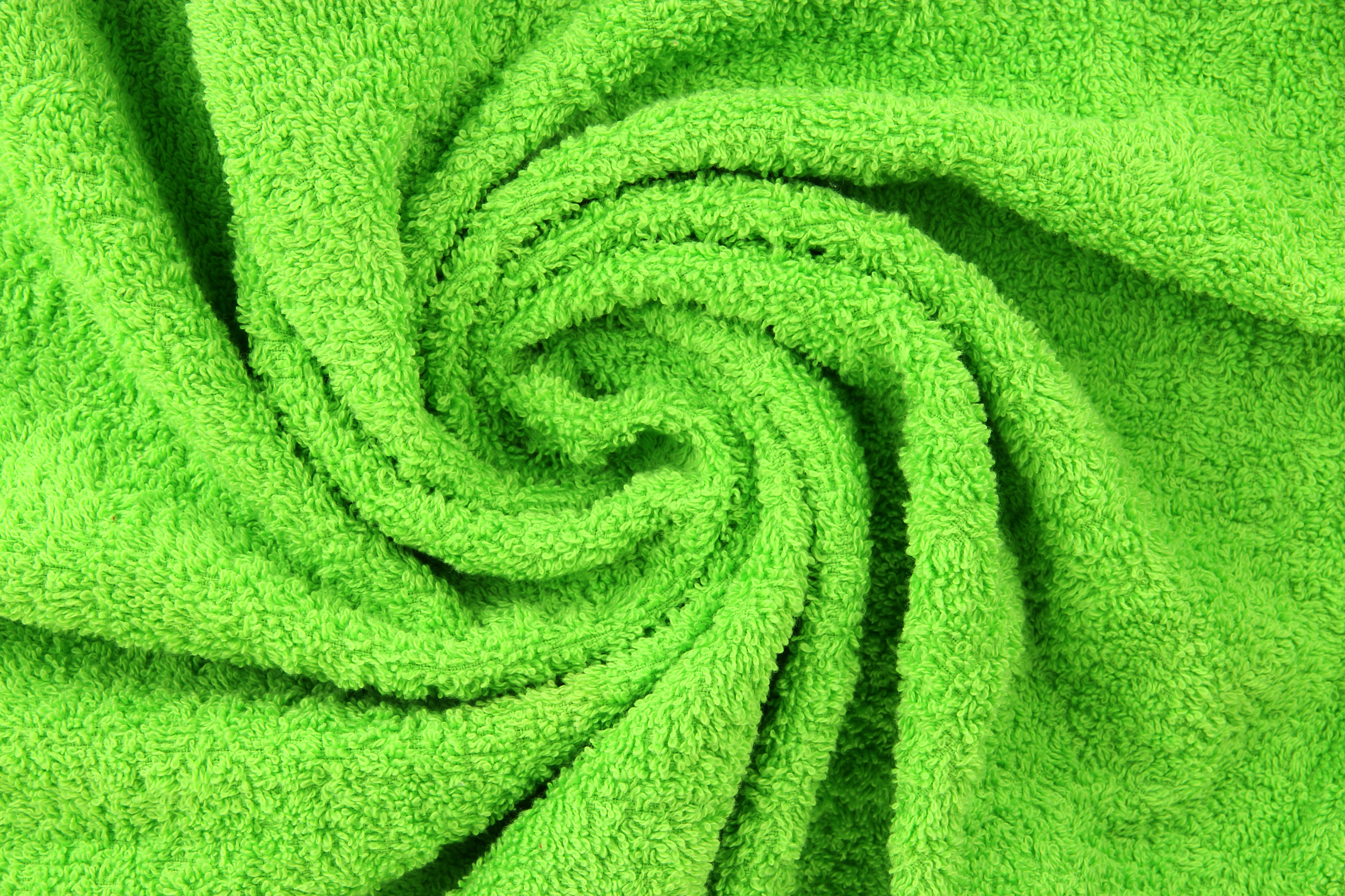 Pantone dyed terry cotton towel.