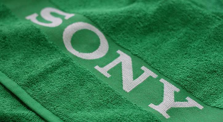 Jacquard border towel