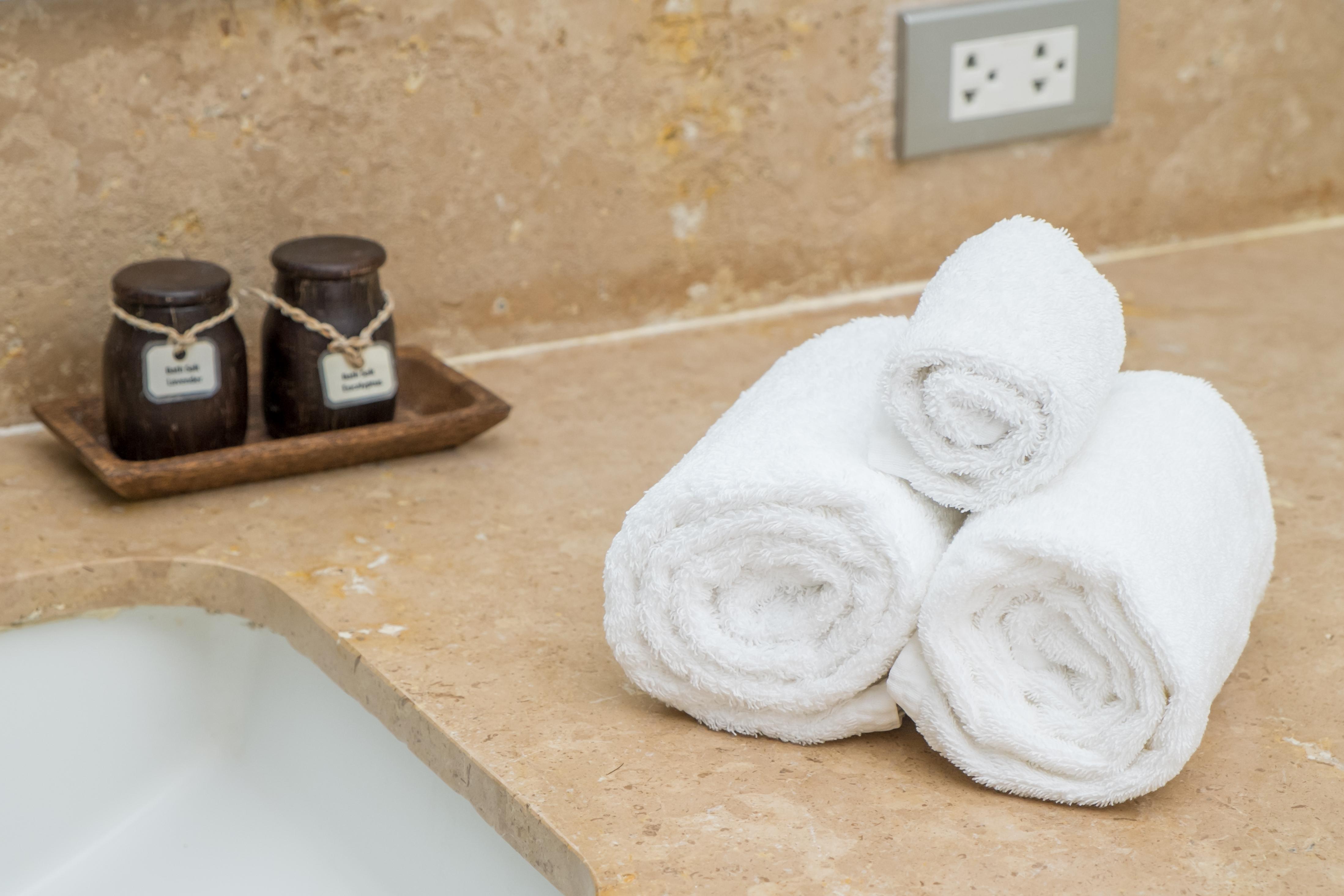 Hotel towels.