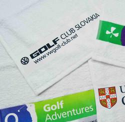 Printed border towels
