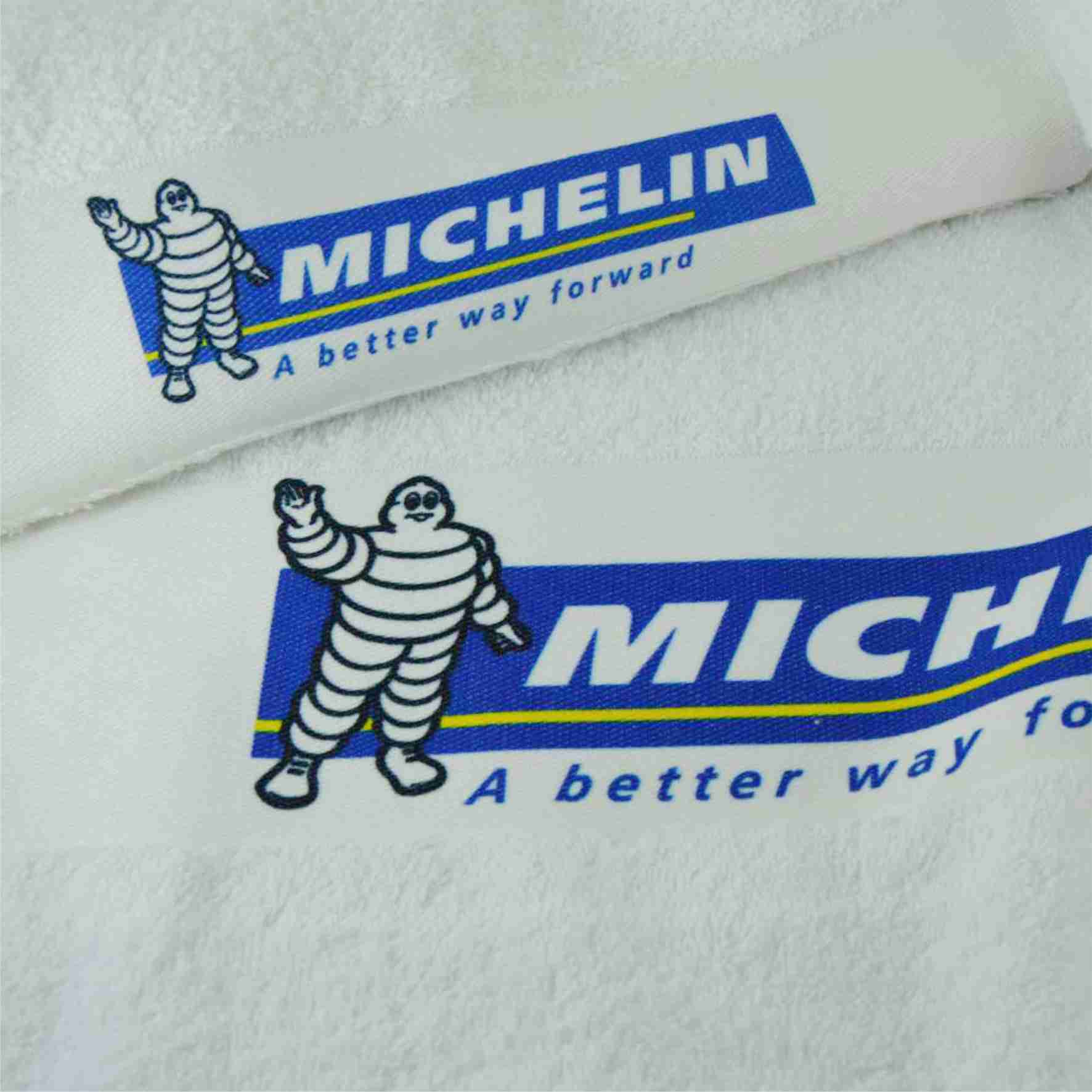 Printed border towels
