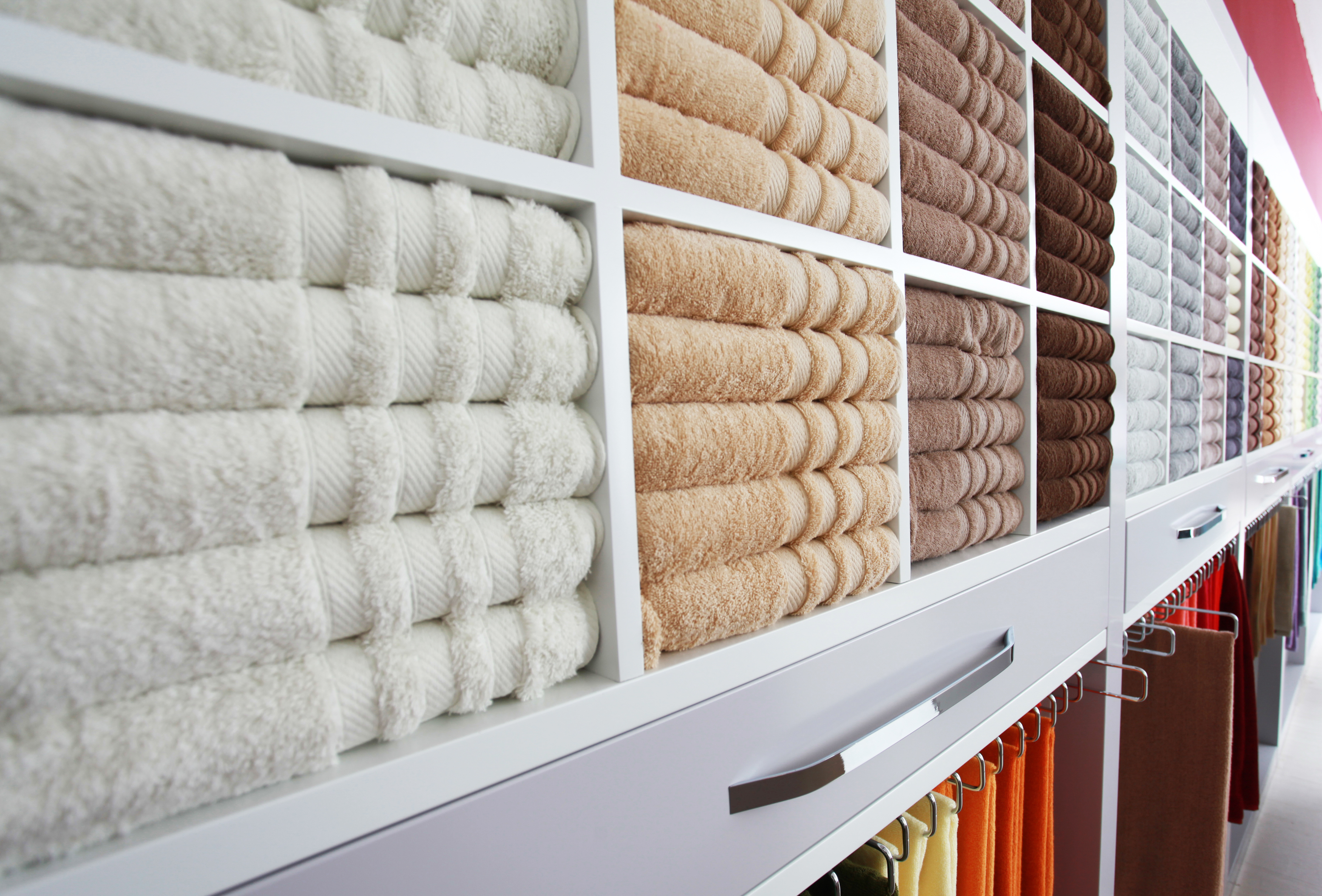 Luxury towels at point of sale.