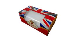 Creative garment packaging box with textile (2)