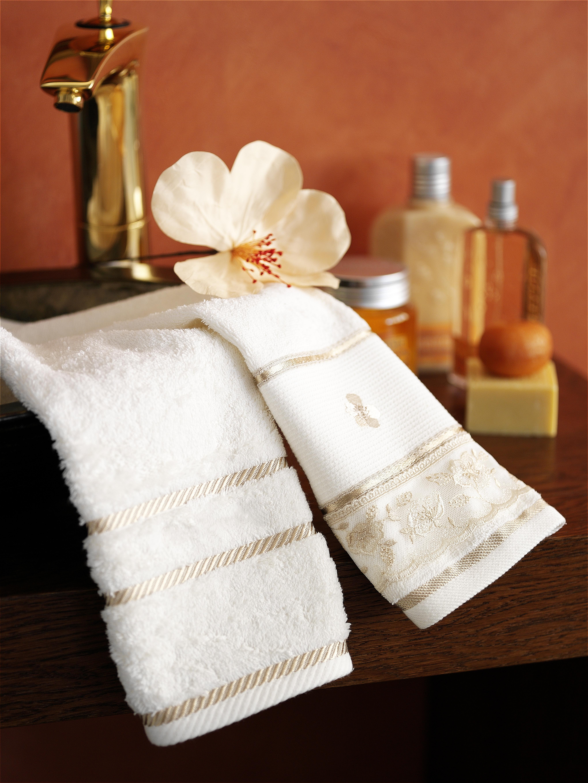 Luxury hotel towel.