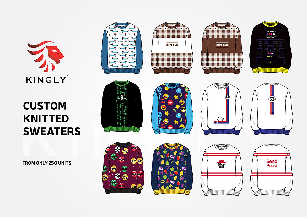 KINGLY CUSTOM KNITTED SWEATERS FROM ONLY