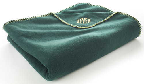 Example of microfiber fleece blanket