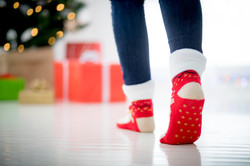 Dotted gripper socks