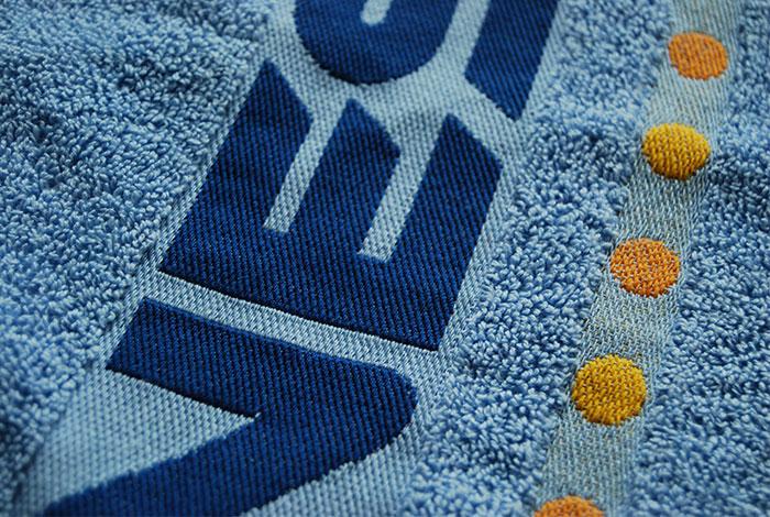 Woven border towels