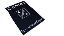 2 colour jacquard woven towel CANNES 2 a
