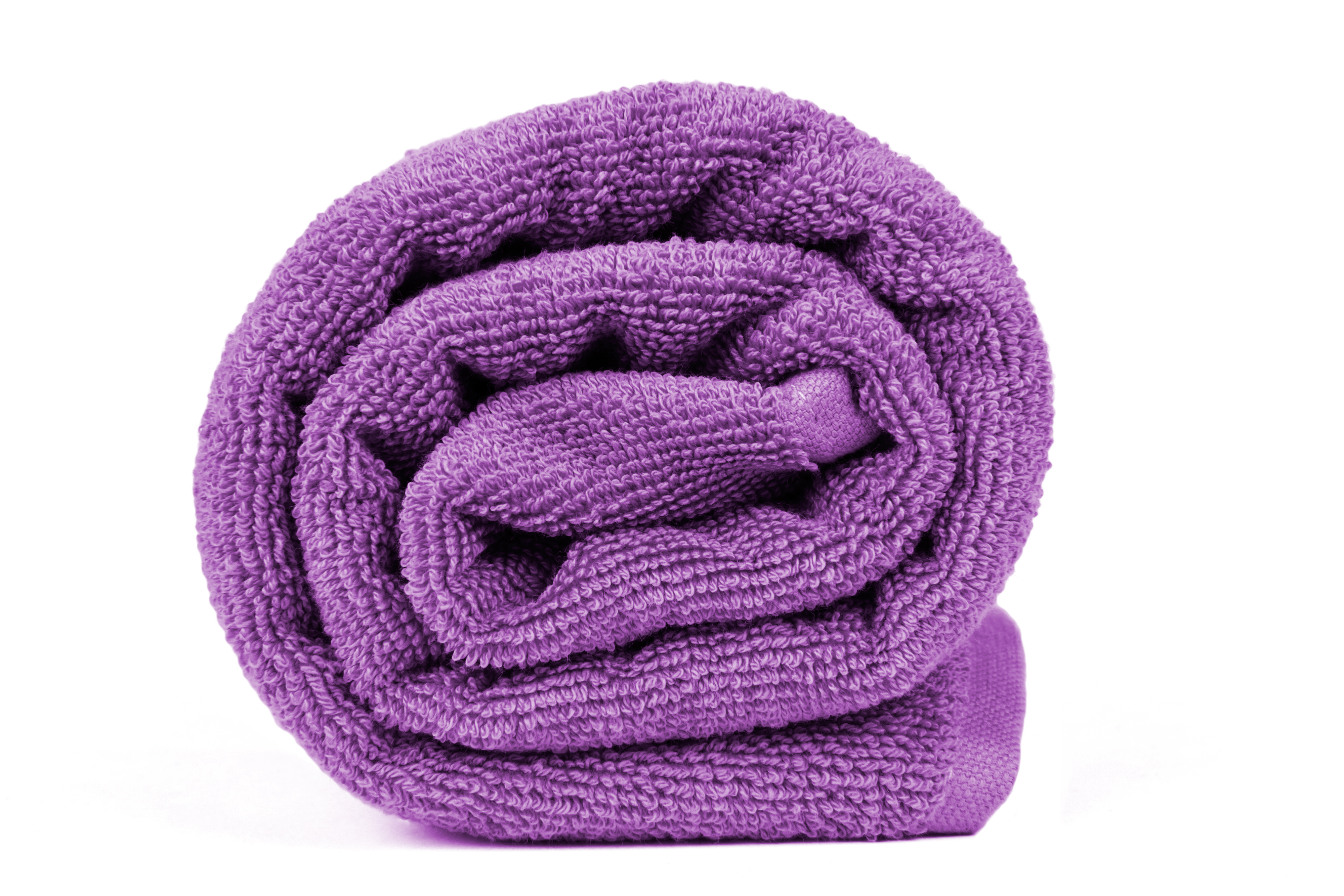 Dyed terry cotton towel.