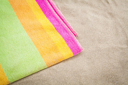 Multi colour jacquard beach towels 2