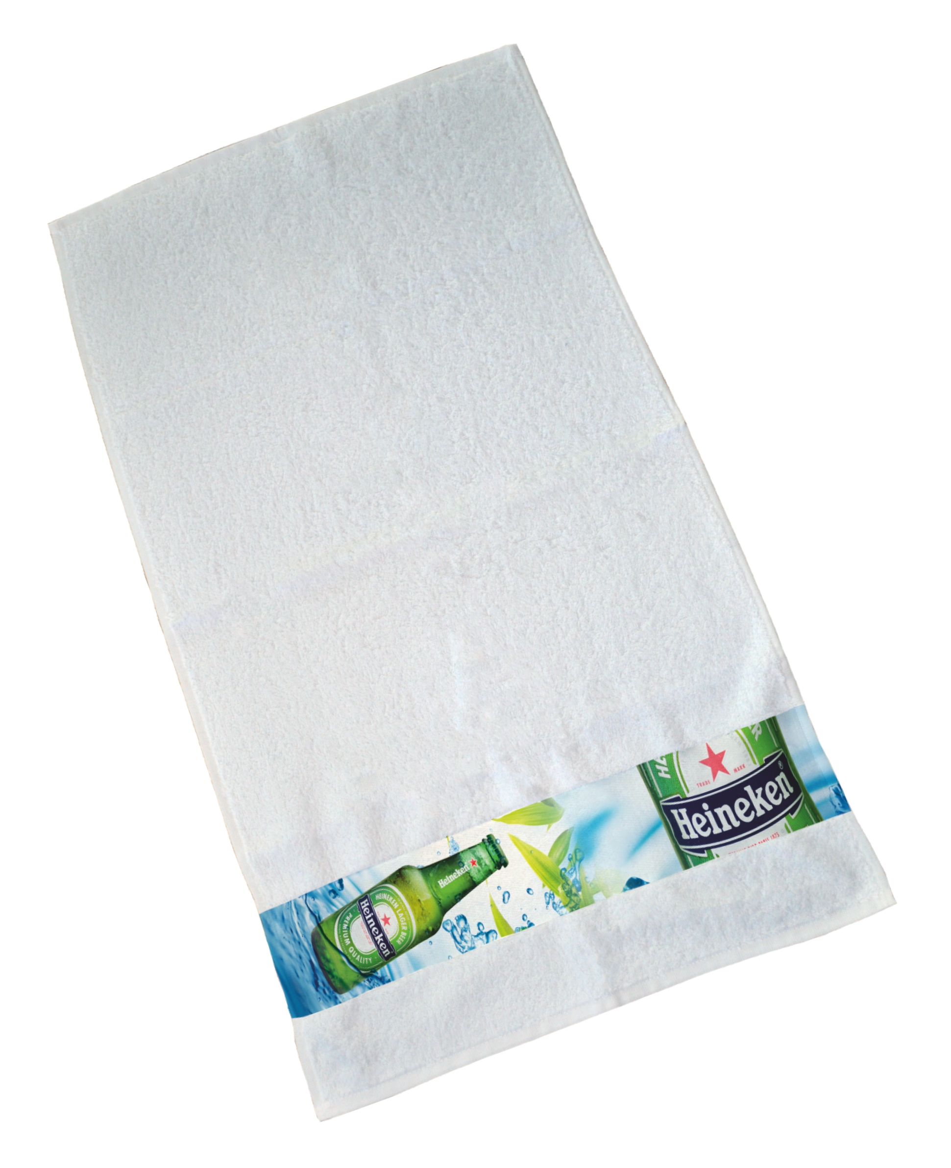Printed border towel 70 x 140 cm
