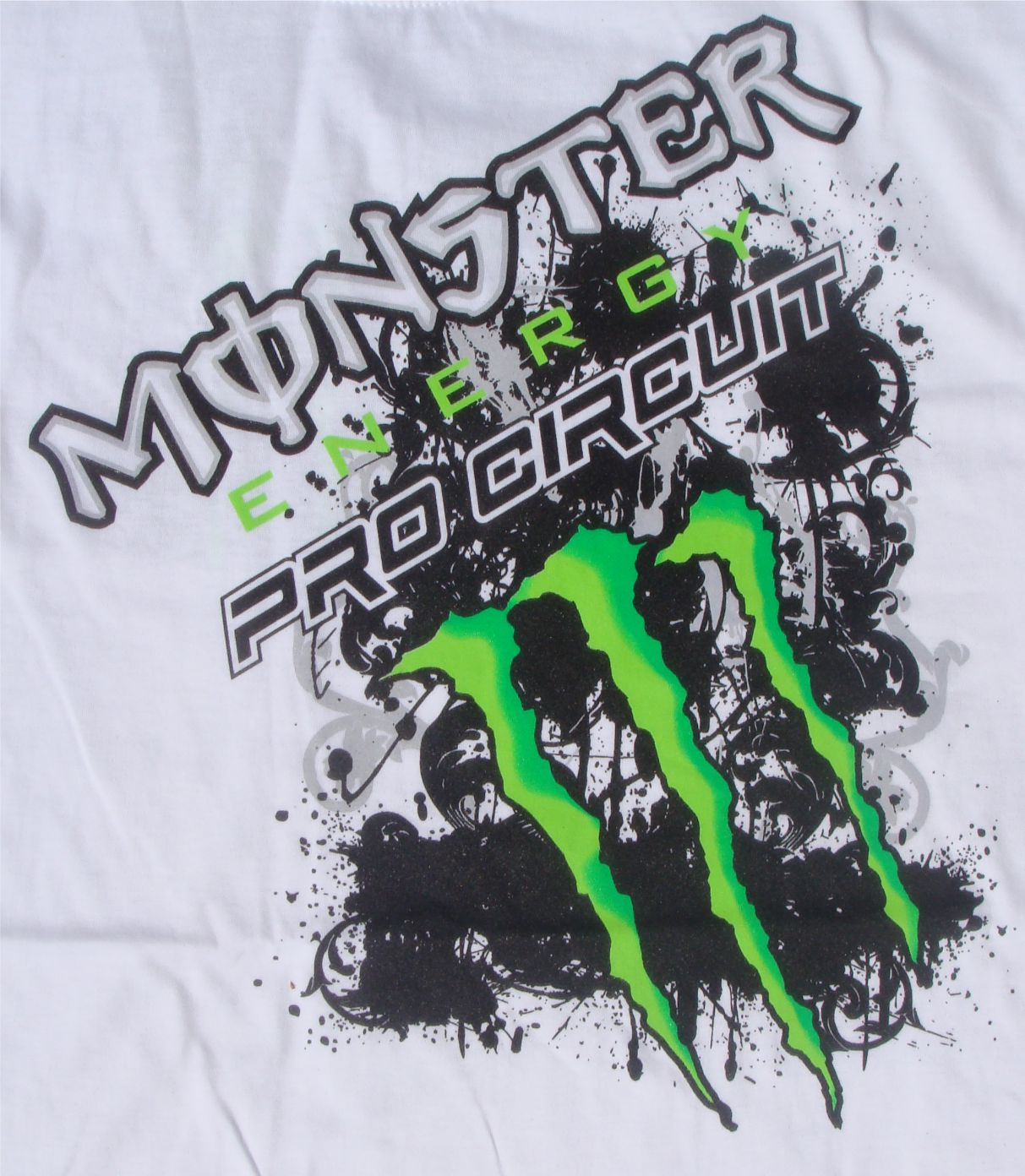 Example of spot colour printing on a white T-shirt
