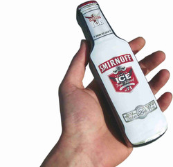 Compressed T-shirt in the shape of a special bottle