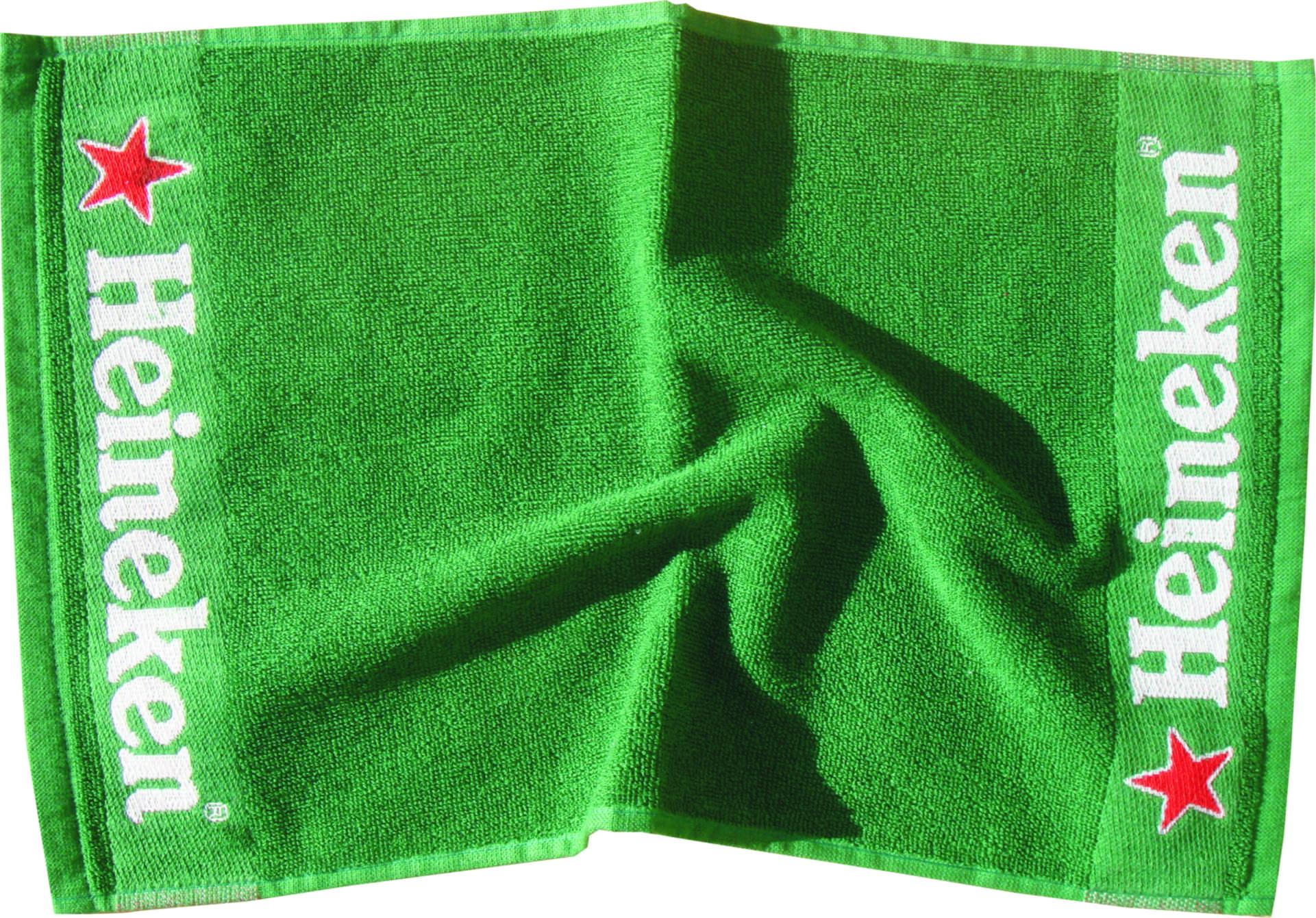 Jacquard woven bar towel.