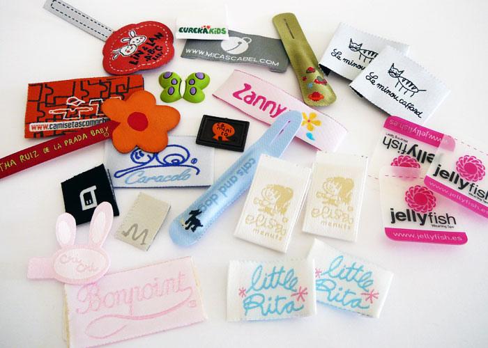 Assortment of labels