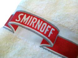 Woven border towel