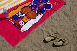 Printed velour beach towel (2)