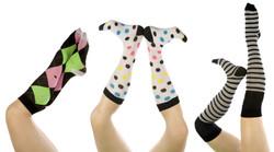 Ladies below the knee socks