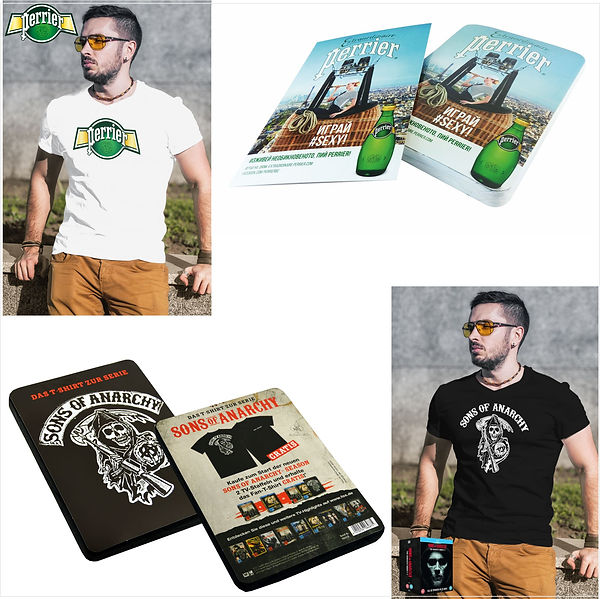 Camisetas personalizadas prensadas