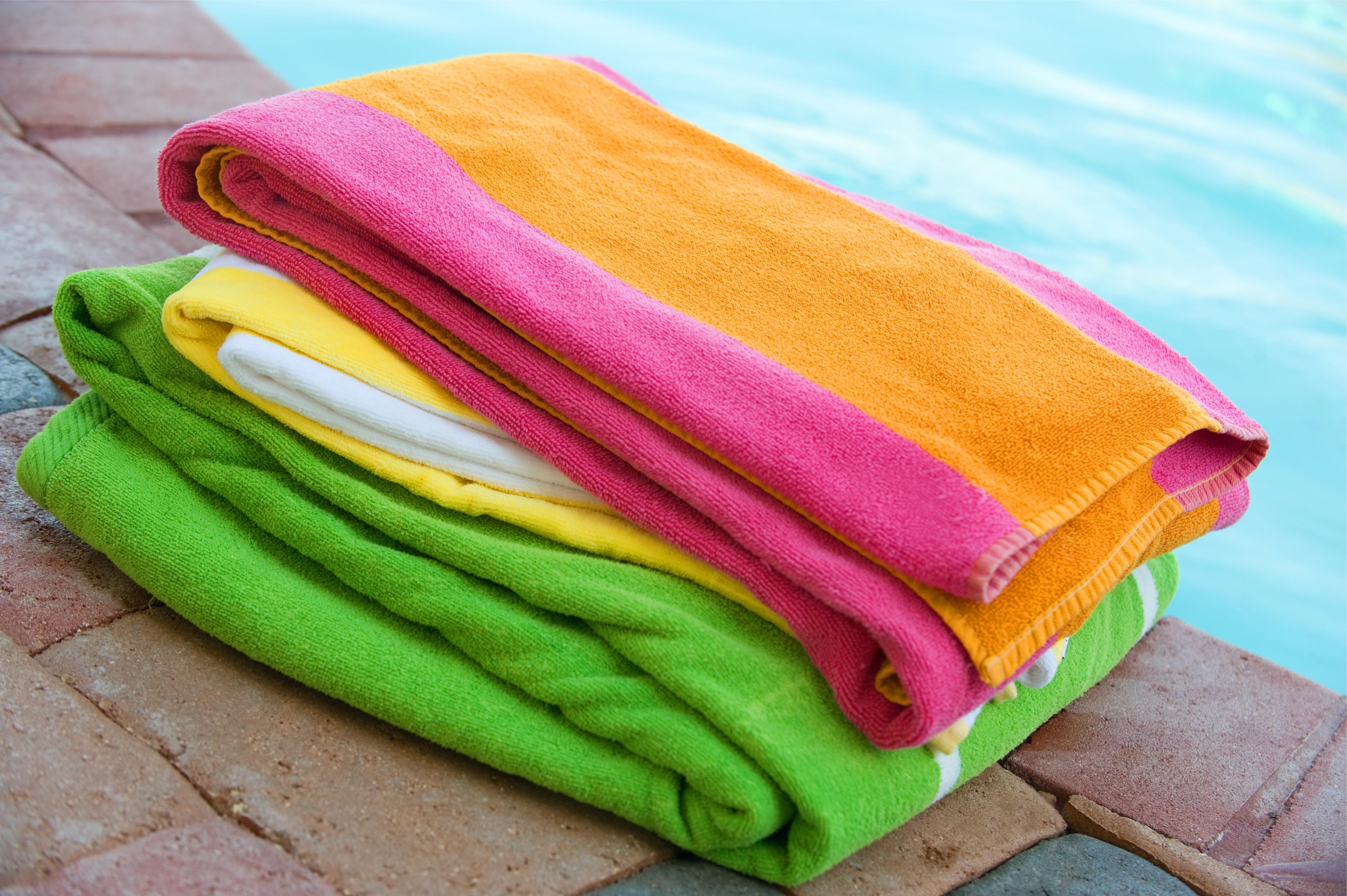 Multi colour jaquard beach towels