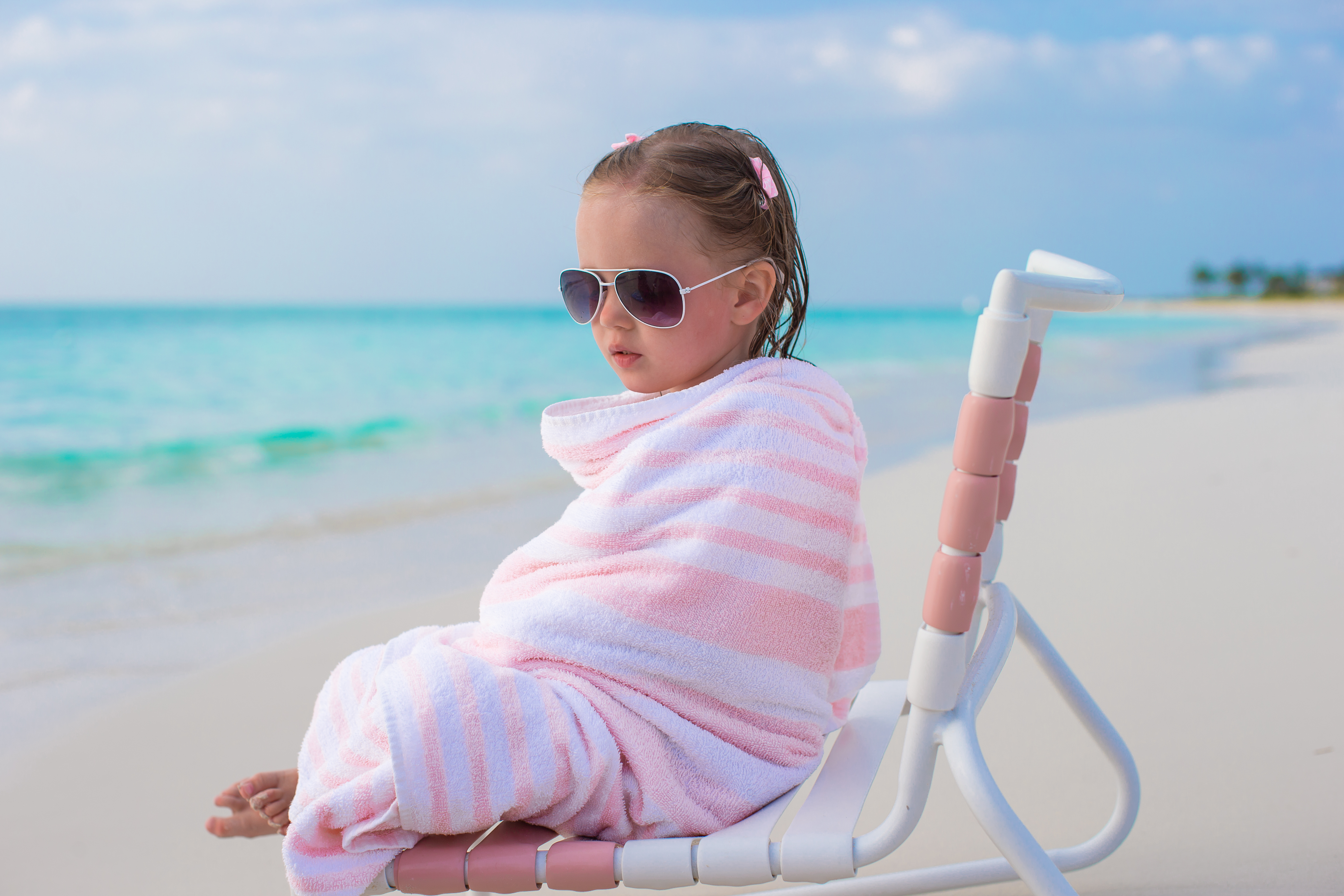 Jacquard velour beach towel.