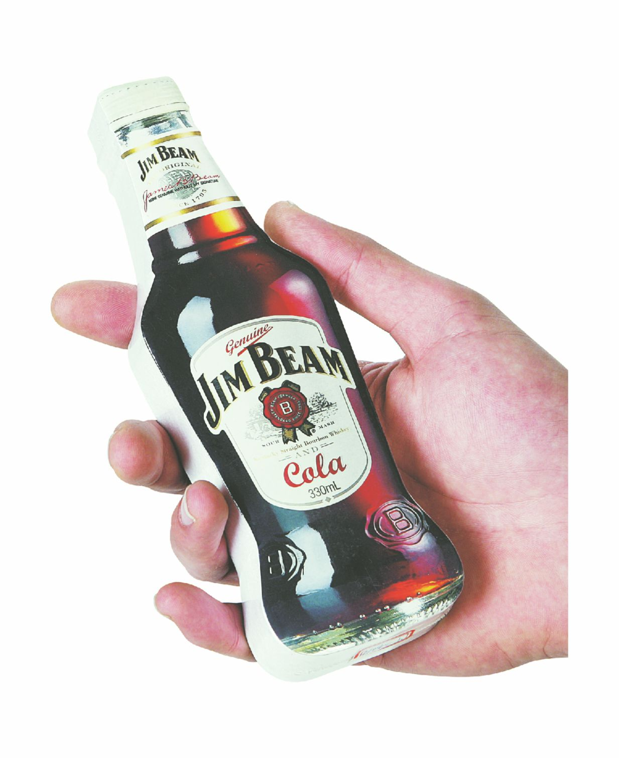 Jim Beam compressed towel