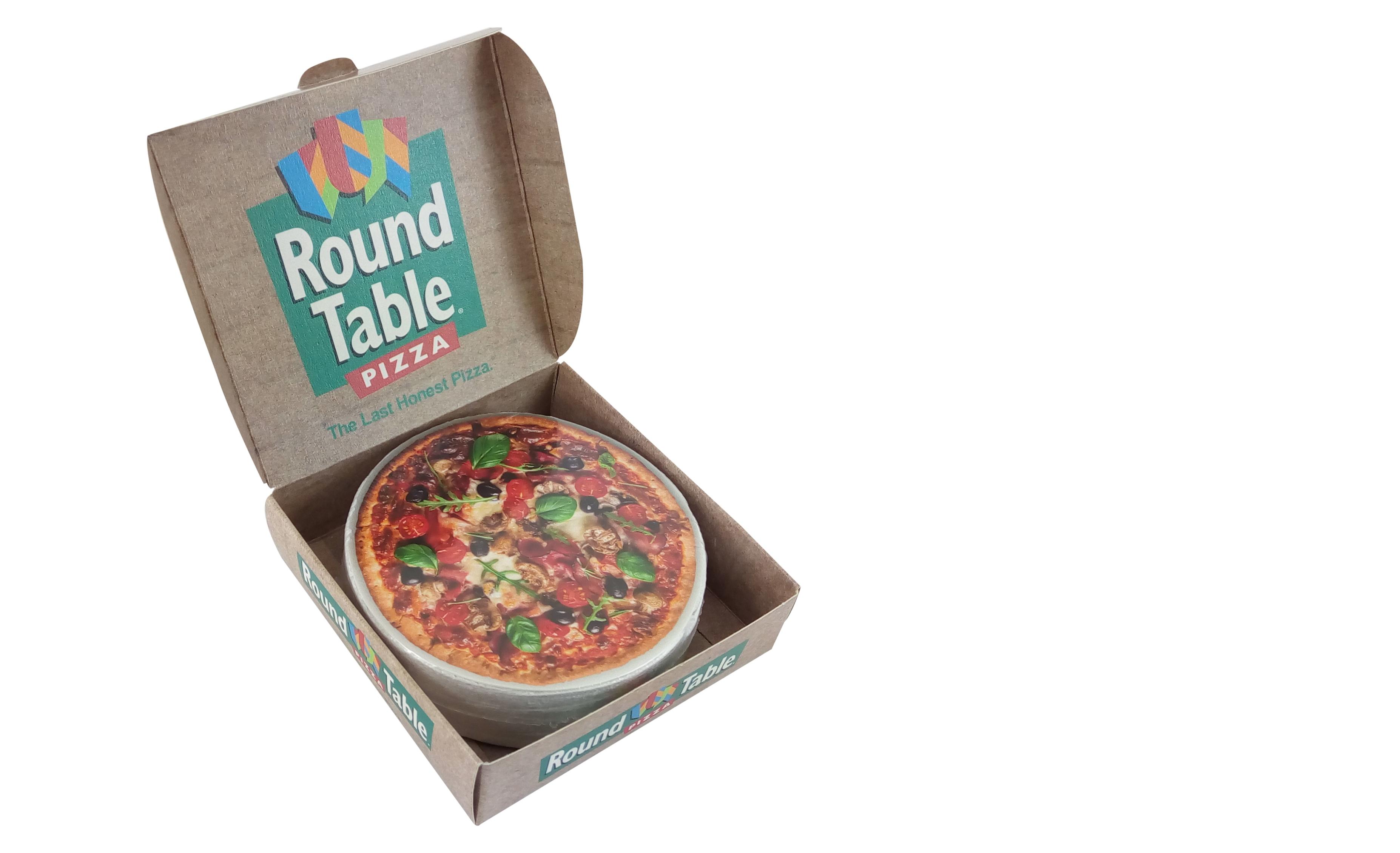 Toalla en una caja de pizza