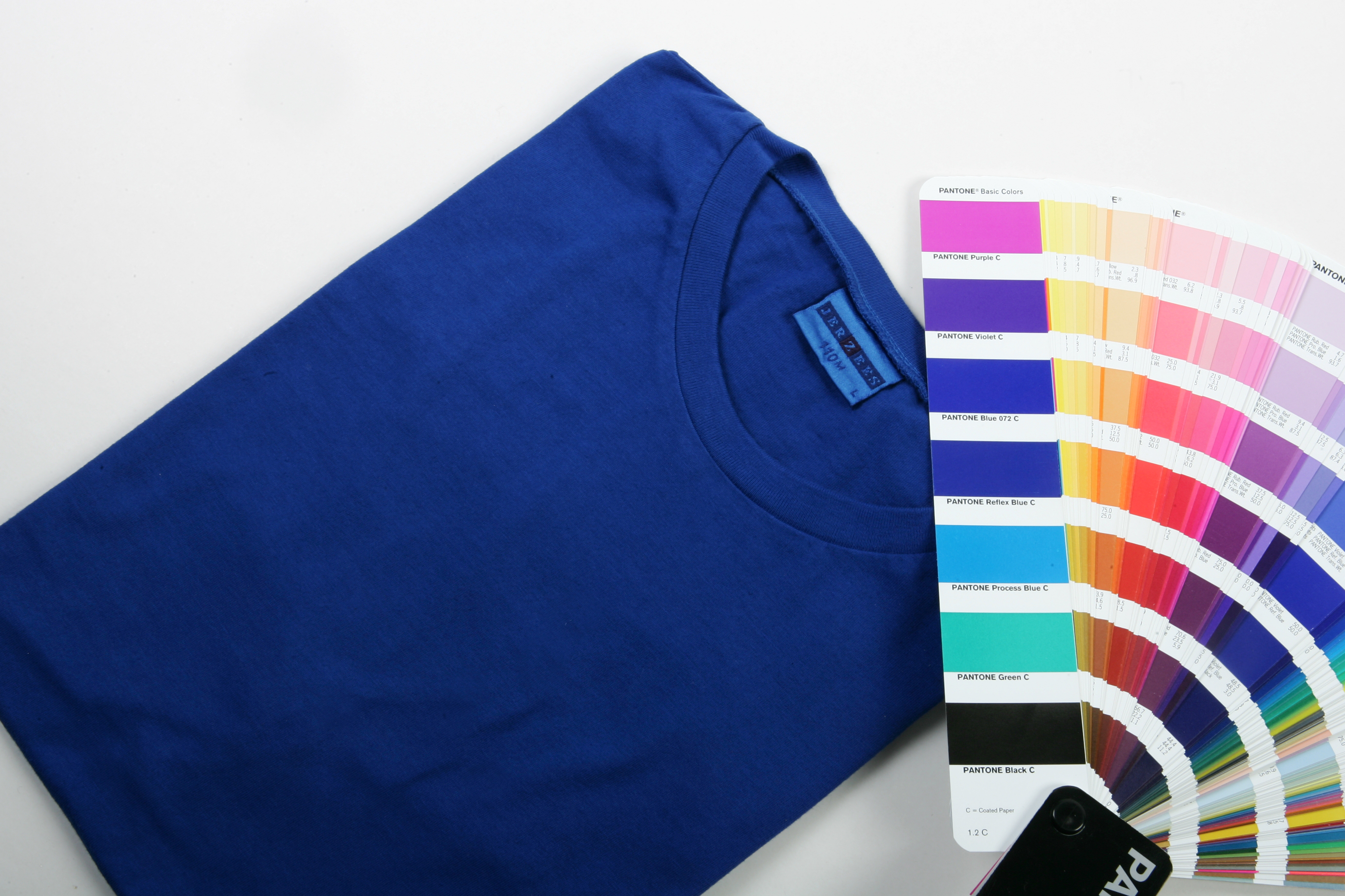 Pantone dyed in Reflex Blue.
