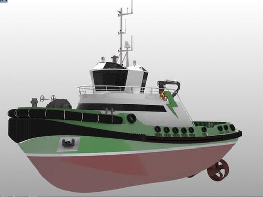 New look for ZEETUG zero emissions electric tugboat