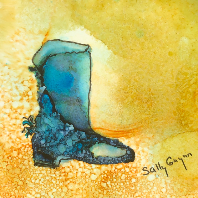 """The Quintessential Blue Boot"""