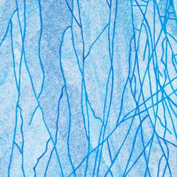 Blue Raindrops Fall