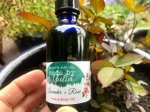 Lavender - Rose face and body Oil