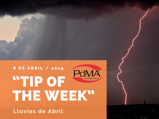 """TIP OF THE WEEK"" de Pdma Corporation, 8 de abril 2019"